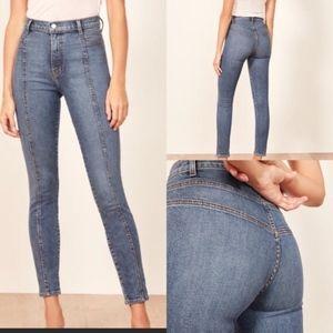 Reformation Suzie Skinny Rhine Wash Stretch Jeans